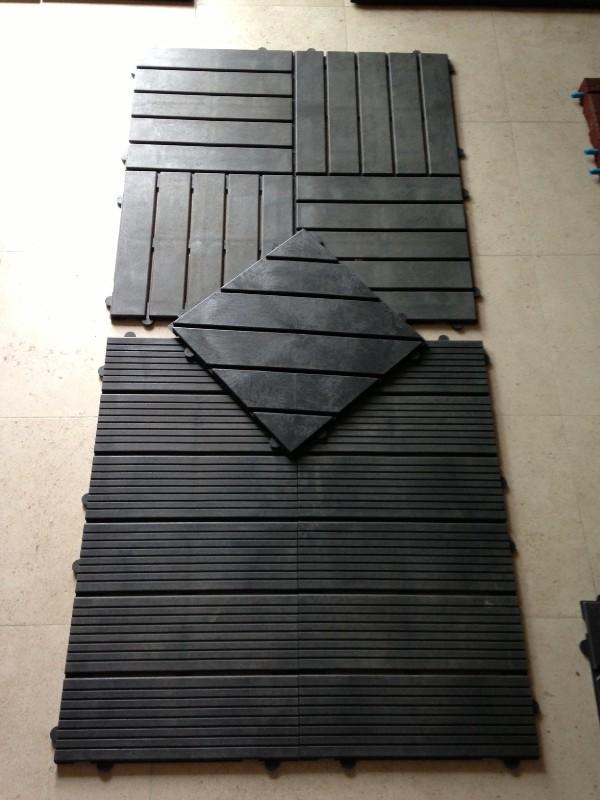 Kunststof terrastegels als alternatief voor houten tegels - Dek een terras met tegels ...