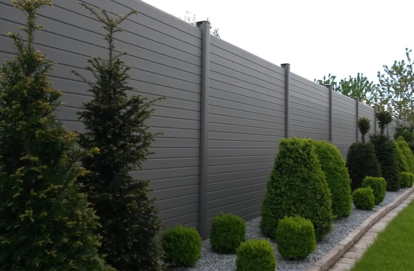 ECOfencing tuinscherm in de grijze kleur