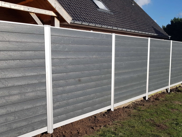 Govawall tuinscherm - Ash Grey Impress