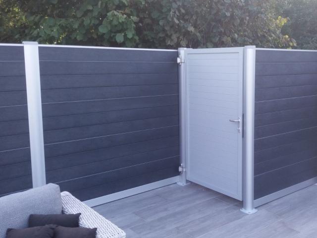 Govawall tuinscherm met bijhorend poortje