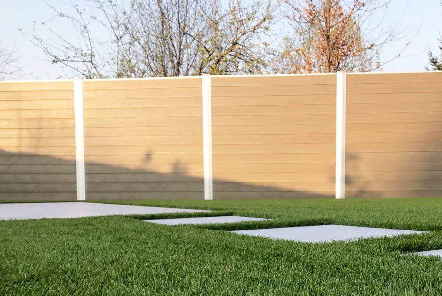 Govawall kunststof tuinscherm in sand beige