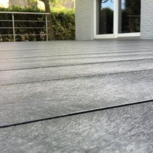 Vlakke smooth versie van de Govadeck kunststof terrasplanken