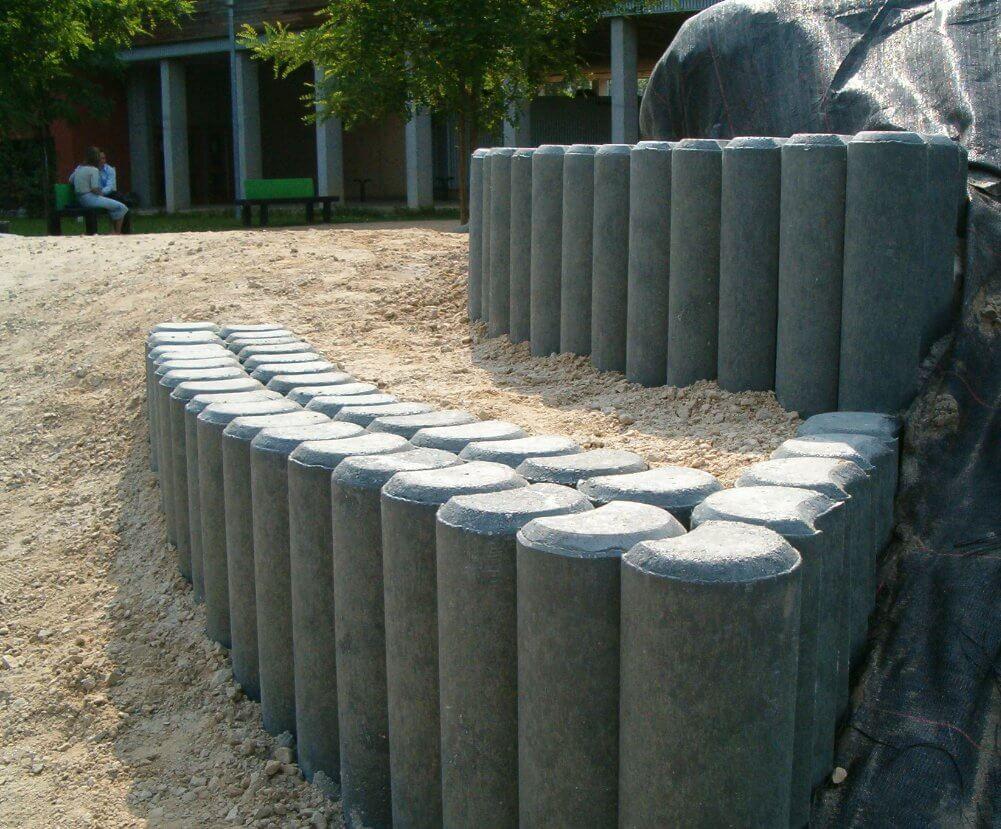 Kunststof palissades met afgeschuinde kop